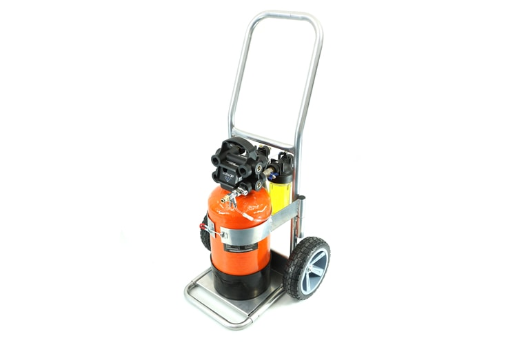 Go H2O Pro 12.5L on trolley