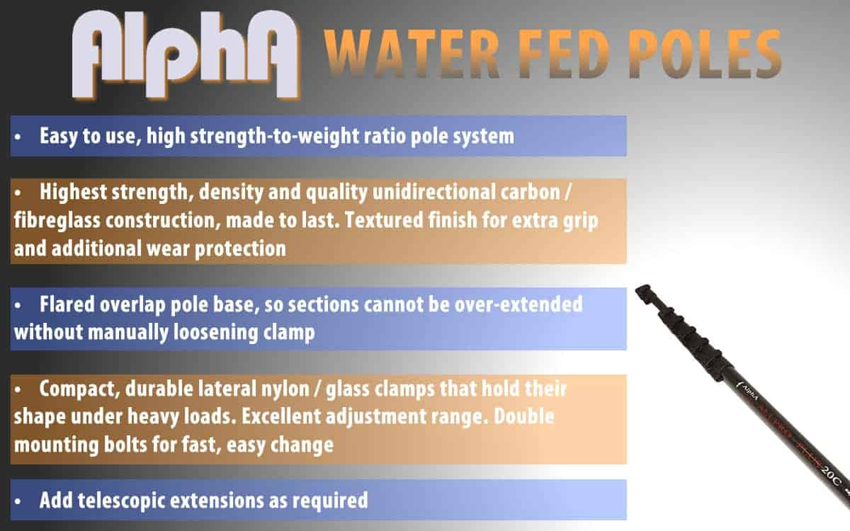Key Points Water Fed Poles