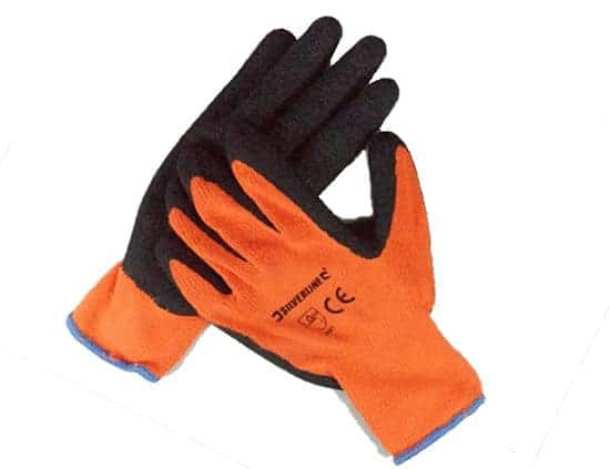 Silverline 10 Gauge Builder's Gloves Window Cleaning Supplies