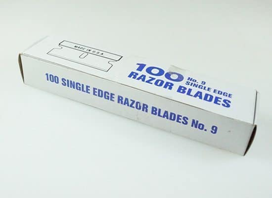 WWWCS Blades 1.5 single edge packet 100 Window Cleaning Supplies