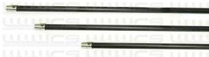 """Alpha 30"""" (75cm) Carbon Fibre Gooseneck and Pole Extension"""