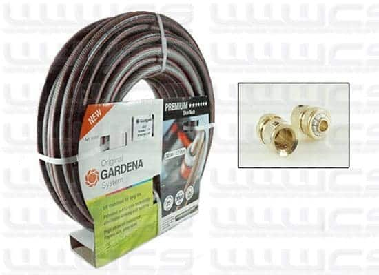 Gardena Premium SkinTech 30m 12mm Hose with Brass Fittings