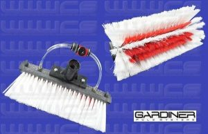 Gardiner Super-Lite Radial-Sill Brush / Hot Water Brush Dual-Trim Stiff Bristles 10''