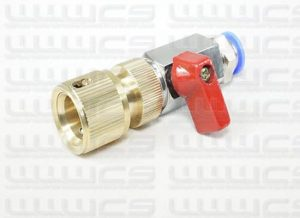 1/2'' Hose Valve 8, 10 or 12mm with Pushfit Connector to Standard Hose