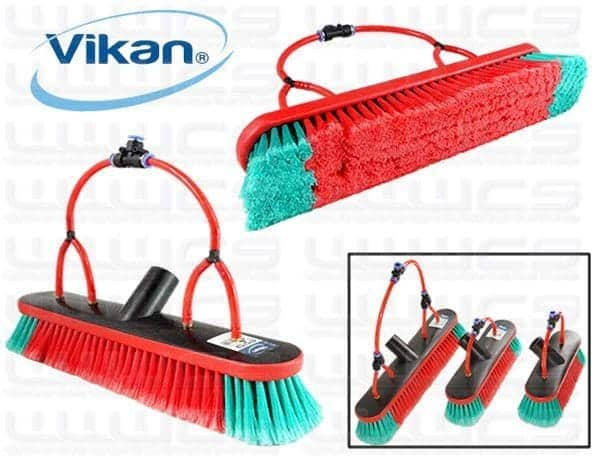 Vikan 16'' Brush Single Trim Soft Flocked 4 Pencil Jets