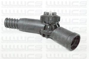 """Angle Adapter Thread Change 22mm Euro to 3/4"""" Acme"""