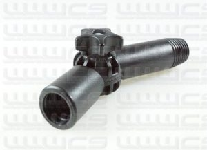 """Angle Adapter Thread Change 3/4"""" Acme to 22mm Euro"""