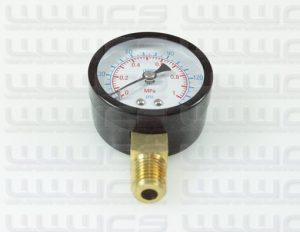 "WWWCS Pressure Gauge Bottom Mount 1.5"""