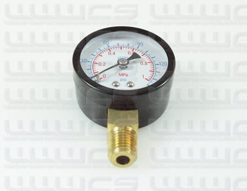 WWWCS Pressure Gauge Bottom Mount 1.5""
