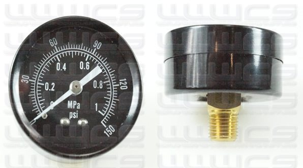 WWWCS Pressure Gauge Rear Mount 1.5""