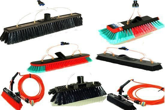 Water Fed Brushes, Pole Hose Kits