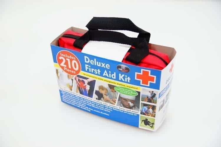 First Aid Safety Kit Window Cleaning Supplies