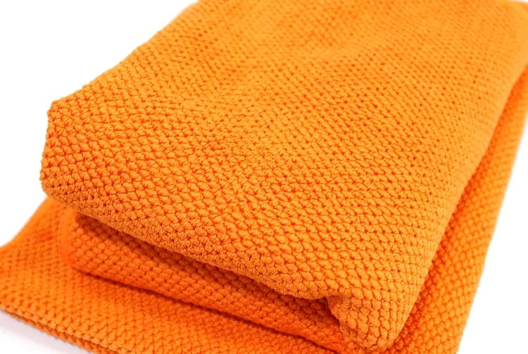Soft Waffle Microfibre Orange Cloth