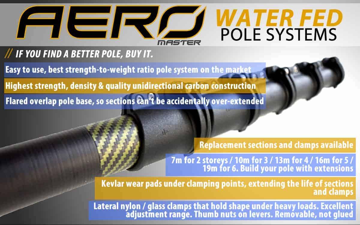Key points Aero Master Water Fed Poles