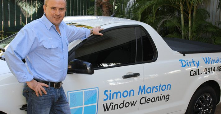 Window cleaner spotlight on Simon Marston from Simon Marston Window Cleaning