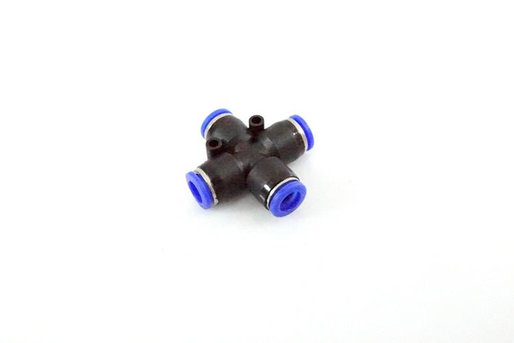 8mm 4-Port Push-Fit Connector